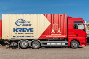 Bild von einem Lkw der Spedition Kreye in Oldenburg
