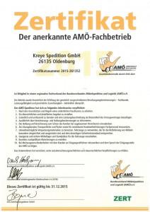 Das Bild Zeigt das AMÖ Zertifikat