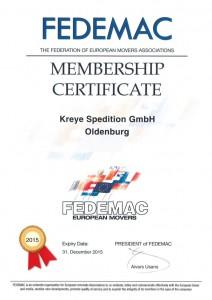 Das Bild zeigt das FEDEMAC Zertifikat